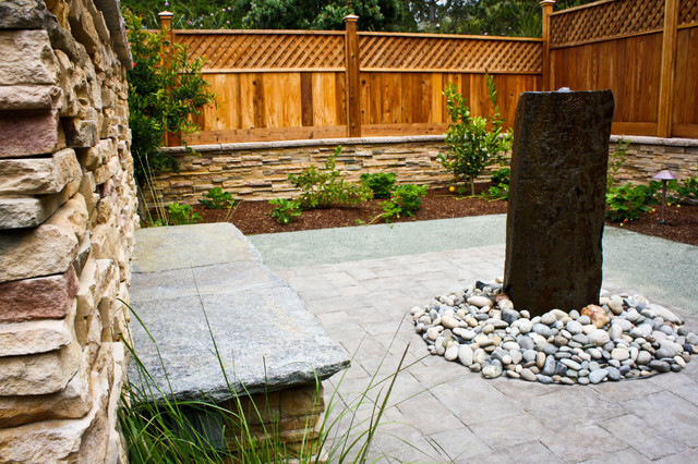 Meditative Patio in Award Winning Landscape contemporary landscape