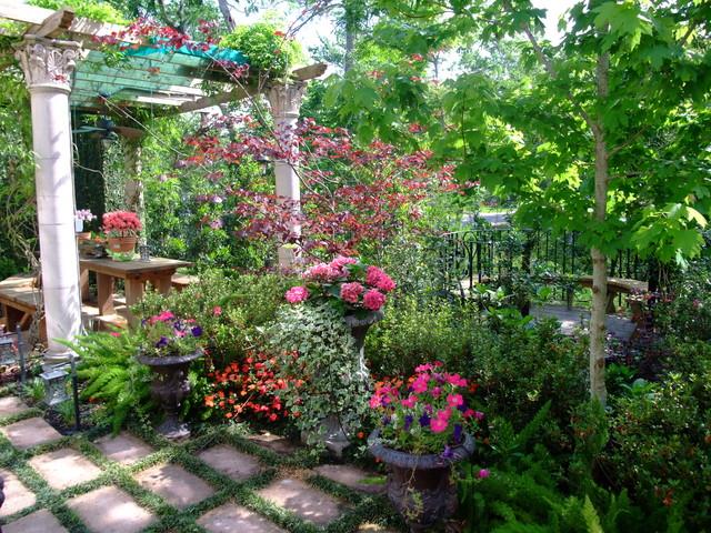 Mediterranean Backyard Landscaping Ideas : Mediterranean Backyard in Houston  Mediterranean  Landscape