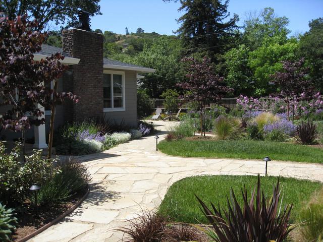 mediterran garten design, Hause und Garten