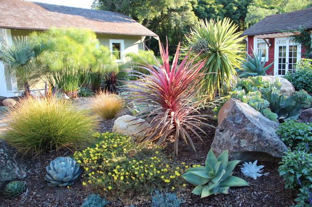 mediterranean garden feature in san luis obispo - mediterran, Garten ideen