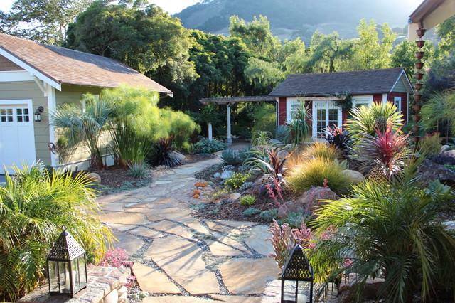Mediterranean Garden Feature In San Luis Obispo Mediterranean Landscape