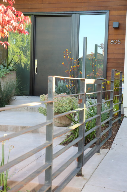 This is an example of a large contemporary full sun landscaping in San Francisco.
