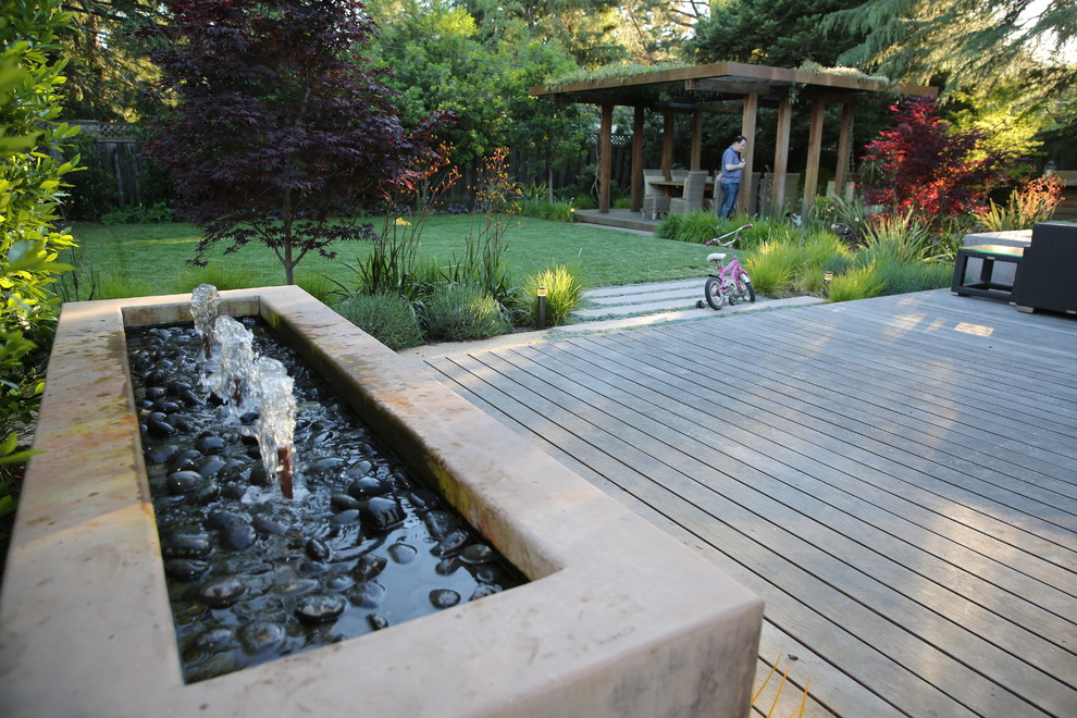 Design ideas for a large contemporary full sun landscaping in San Francisco.