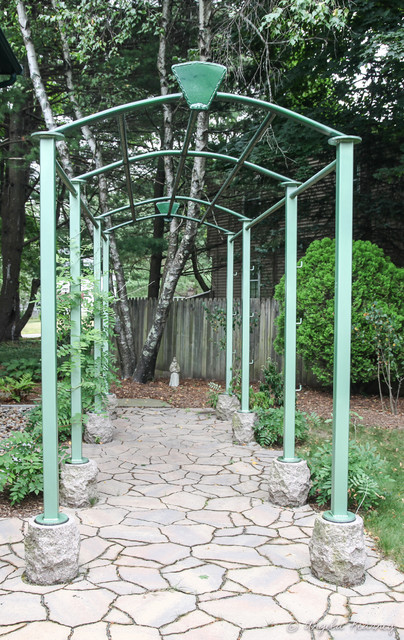 Beau Metal Garden Arbor Rustic Landscape