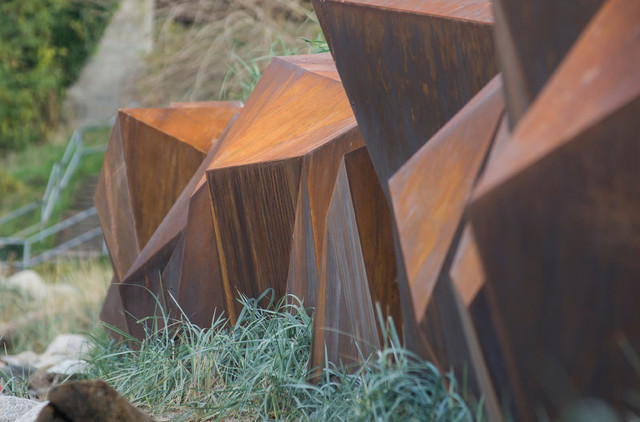Metamorphous A Corten Steel Seawall Sculpture