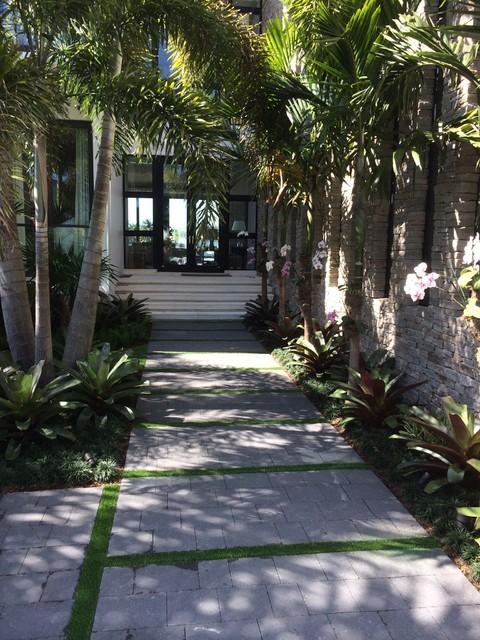 Miami beach landscape tropical landscape miami by for Beach landscape design