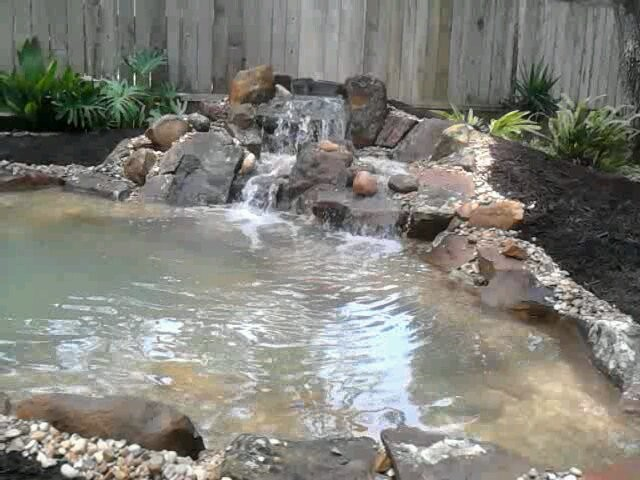 michael 39 s backyard pond with waterfall and bog filter