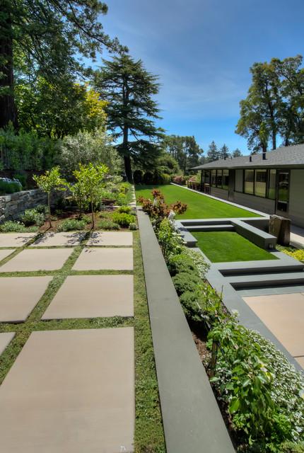 Mid-Century Modern Home Living - modern - landscape - san ...