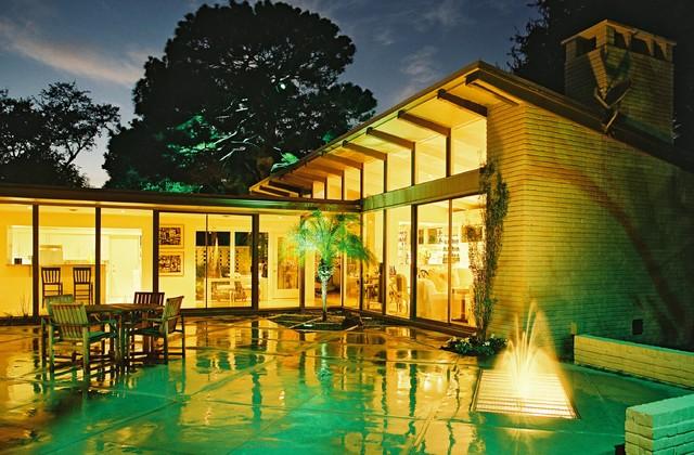 Mid century modern landscaping modern landscape for Mid century modern architects houston