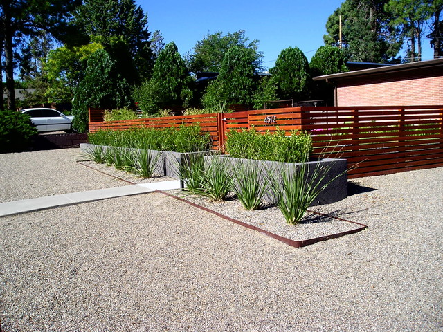 Mid century modern Modern front yard landscaping
