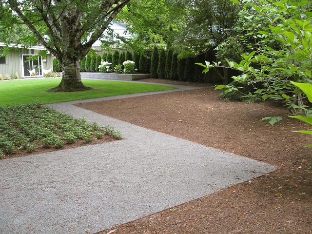 Mid Century Ranch Gravel Path