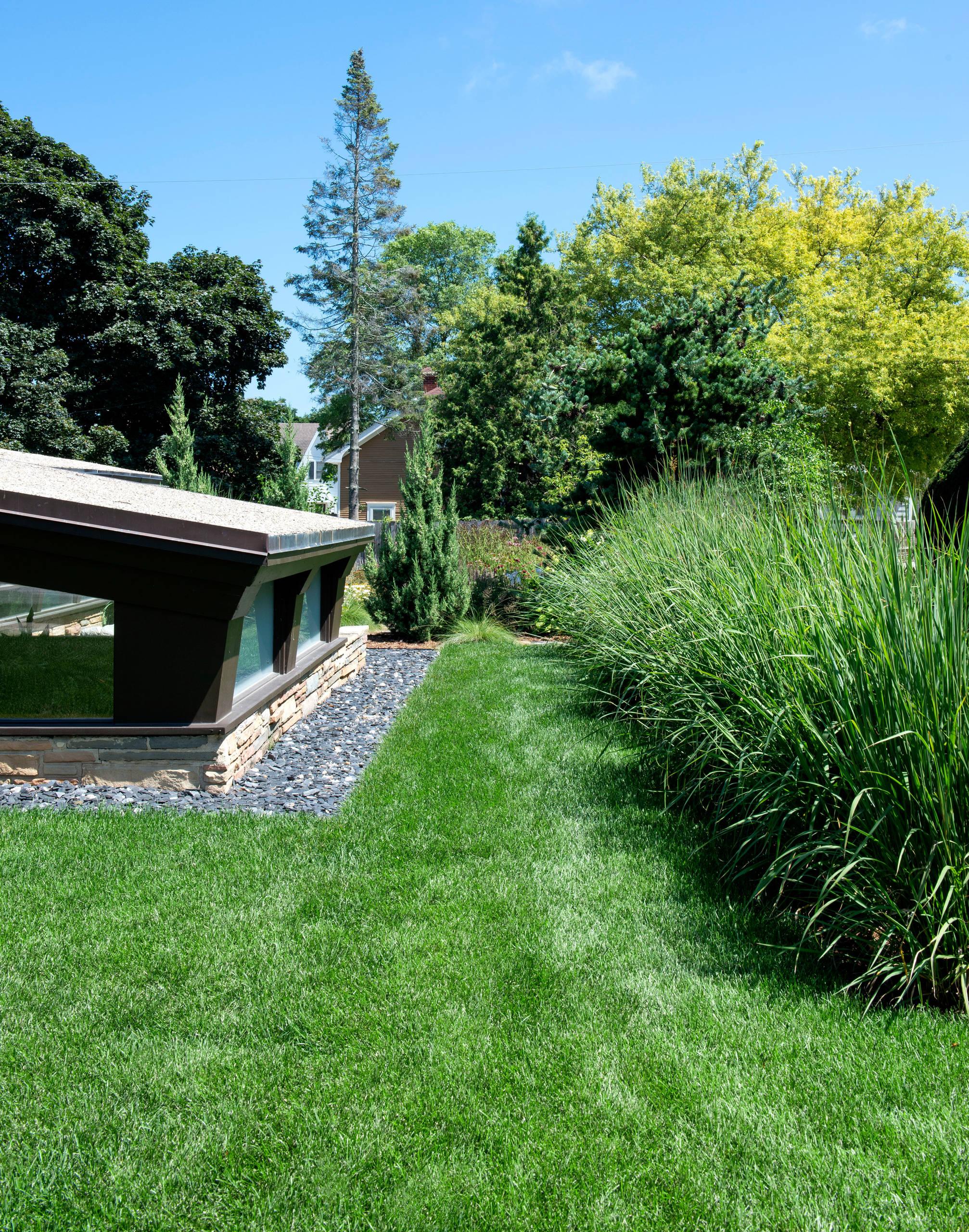 Mid century Side Landscape - Racine