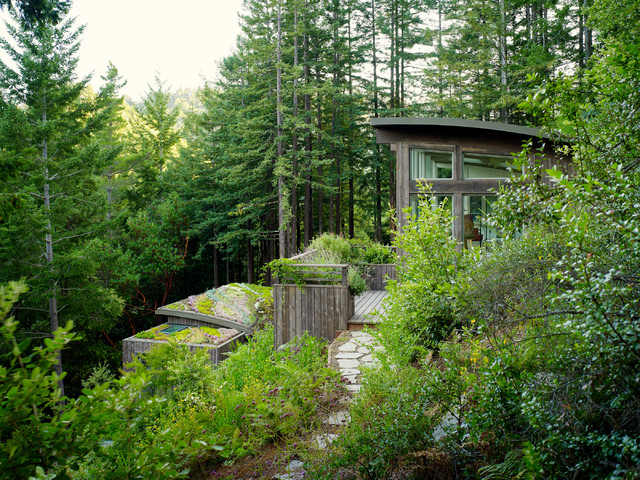 Mill Valley Cabins contemporary garage and shed