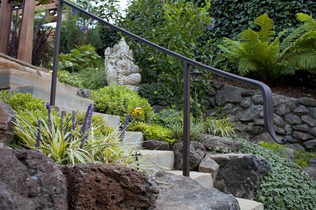 Mill valley residence tropical garden san francisco for Garden design mill valley