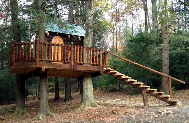 Milroy Pa Rustic Treehouse Rustic Landscape