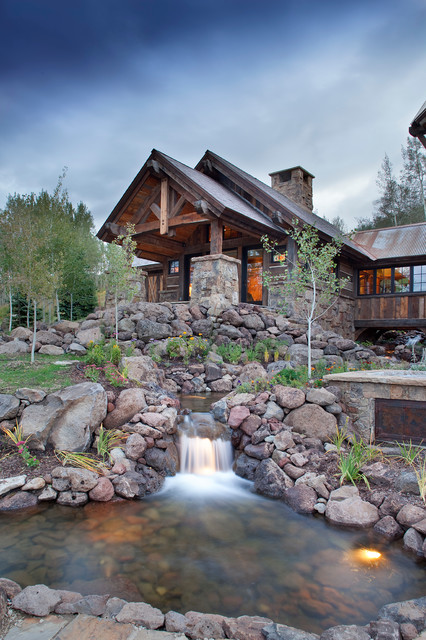 Mine Style Rustic Mountain Lodge Rustic Landscape