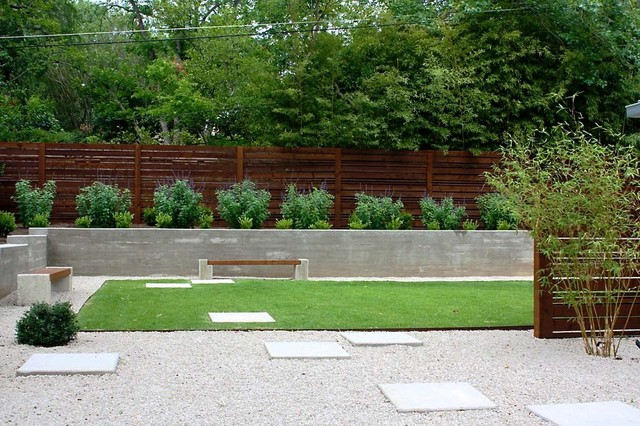Minimalist backyard modern landscape austin by for Modern backyard landscaping