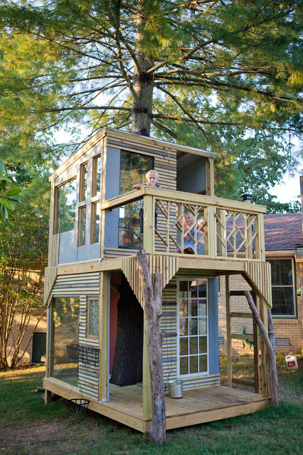 Mod tree house contemporary kids nashville by bjon for Cool two story houses