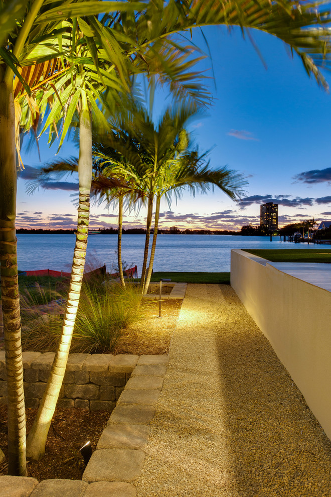 This is an example of a tropical landscaping in Tampa.