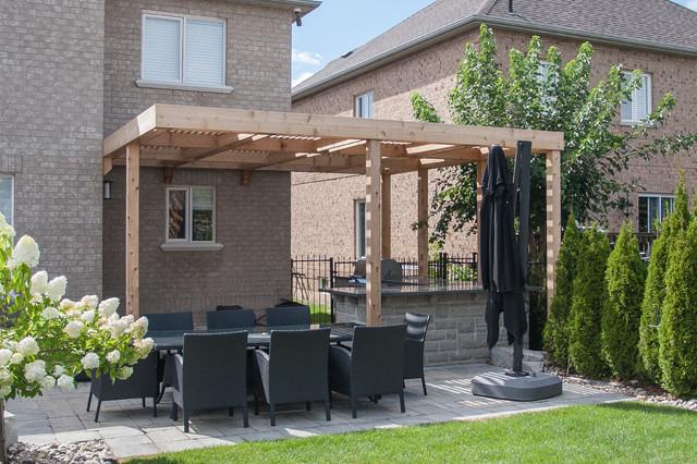 Merveilleux Modern Carpentry   Woodbridge Pergola And Privacy Screen. Modern Garden