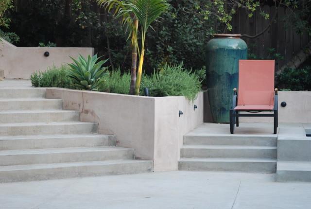 Modern Concrete Staircase Contemporary Landscape Los