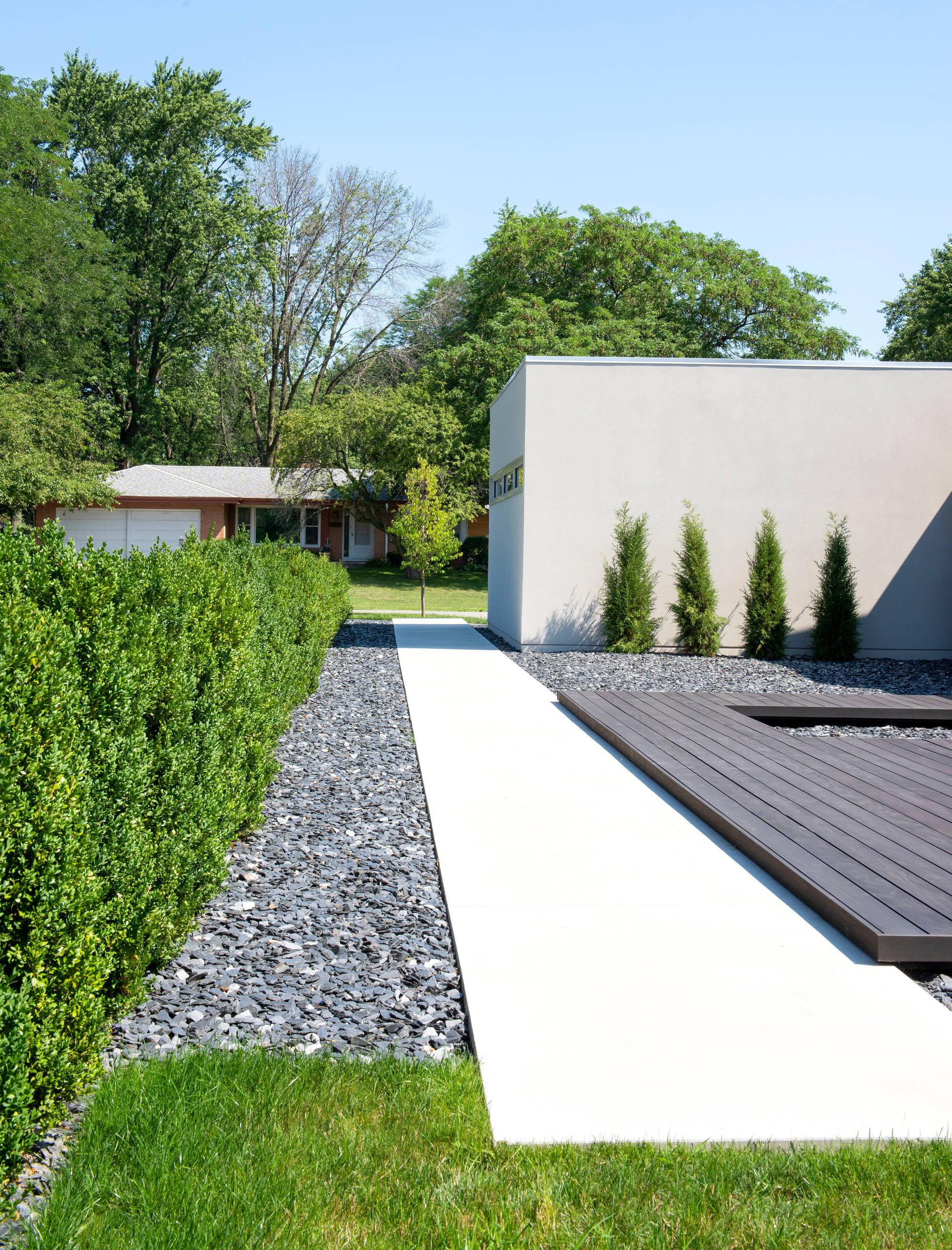 Modern Concrete Walk - Racine