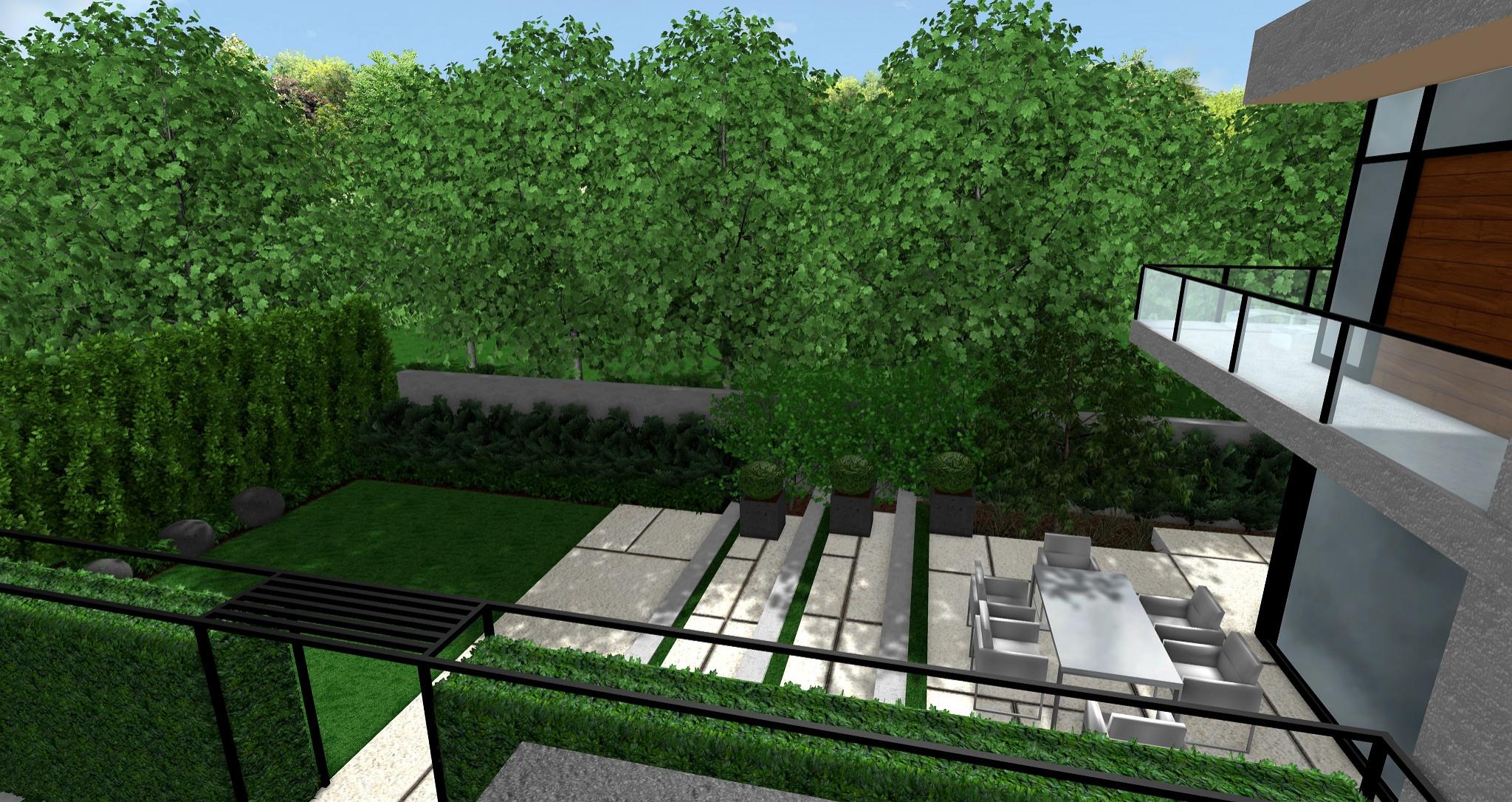 Modern Contemporary Backyard Makeover