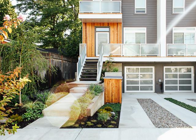 Modern Duplex Front Yard modern-landscape