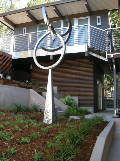 modern dynamic sculpture contemporain jardin san francisco par o 39 connell landscape. Black Bedroom Furniture Sets. Home Design Ideas