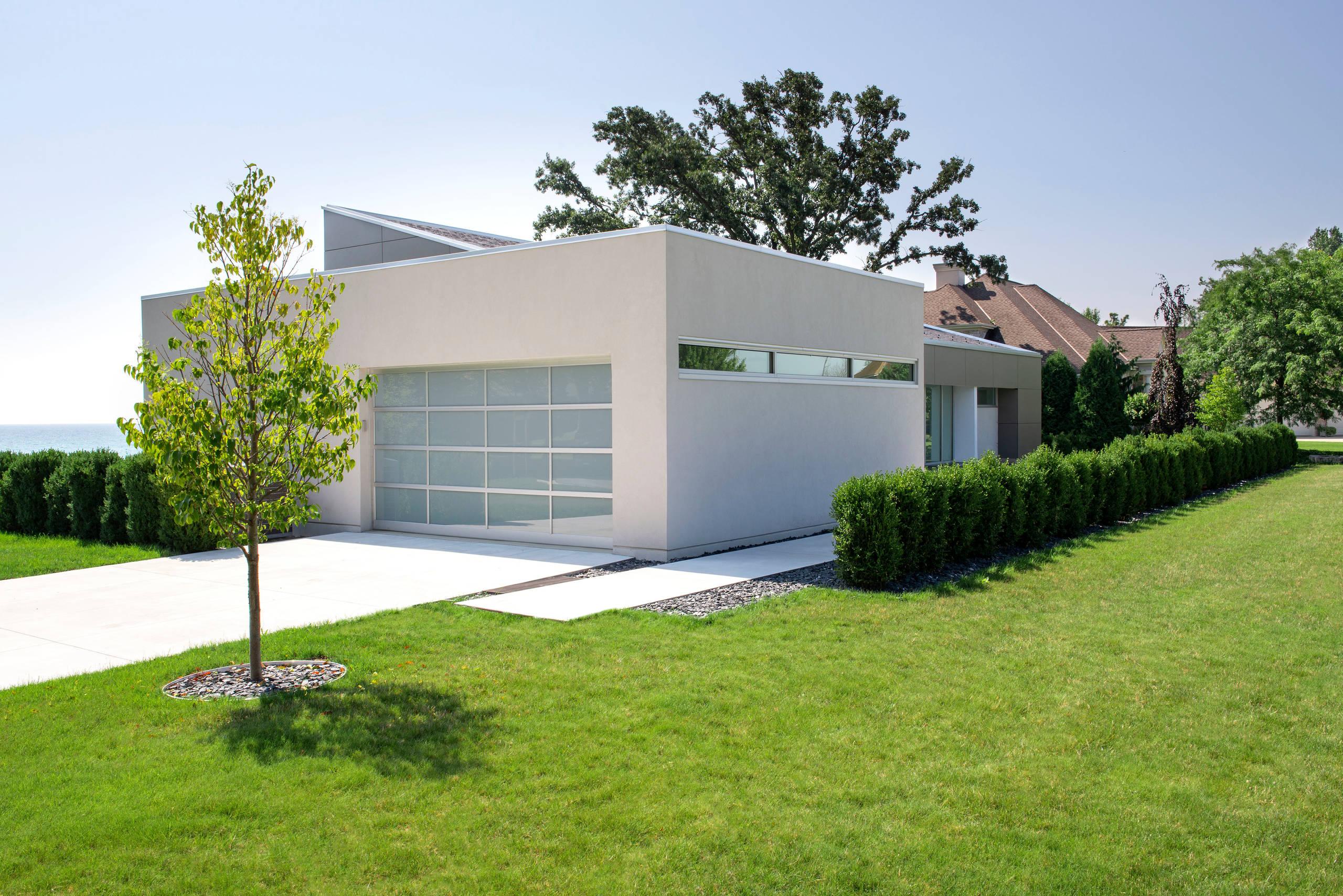 Modern Front Yard Landscape - Racine