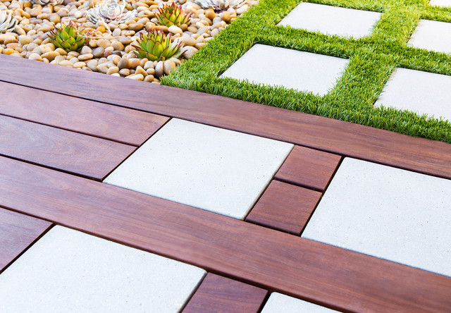 Modern Fun Paving Idea - Contemporary - Landscape - orange county - by Studio H Landscape ...