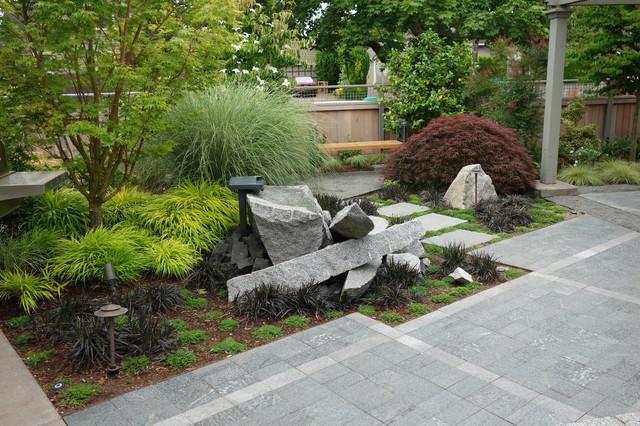modern industrial japanese garden industrial landscape - Landscape Design Japanese Garden