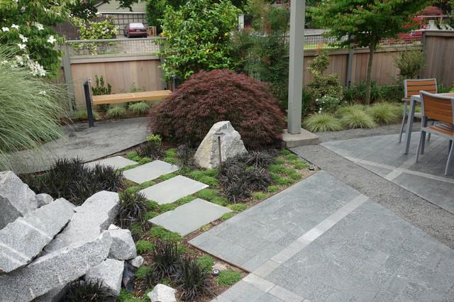 Modern industrial japanese garden industrial landscape for Contemporary japanese garden