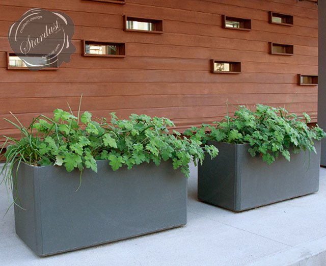 and patio design with large modern garden planters modern landscape