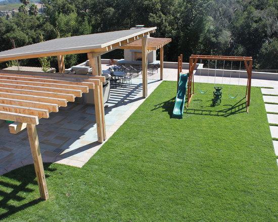 Landscape slanted roof Design Ideas, Pictures, Remodel and Decor