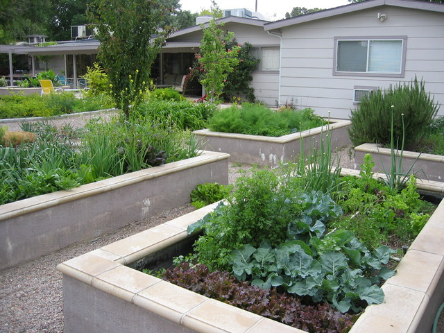 Modern Landscape Modern Landscape. Cinderblock Raised Beds Made ...