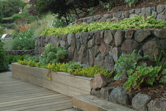 Hillside garden modern landscape san francisco by for Hillside rock garden designs