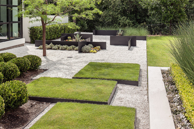 Modern landscaping for Mid century modern architects houston