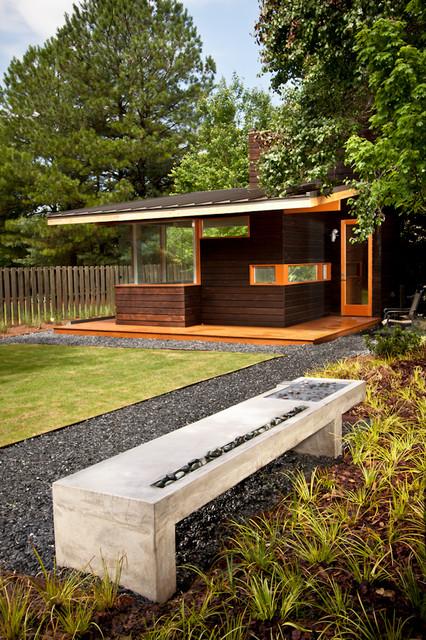 Modern Outdoor Bench Water Feature Modern Landscape