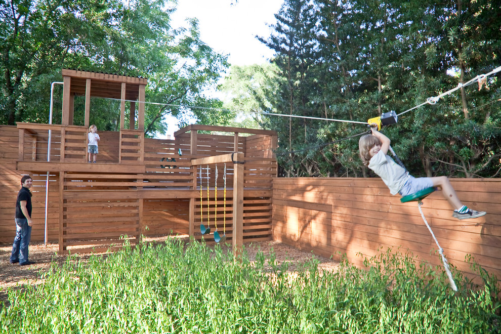 This is an example of a modern outdoor playset in Charleston.
