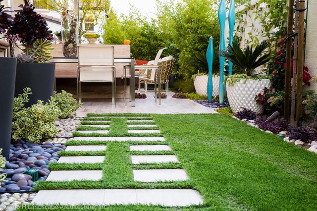 Modern Small Space Backyard Garden Orange County By