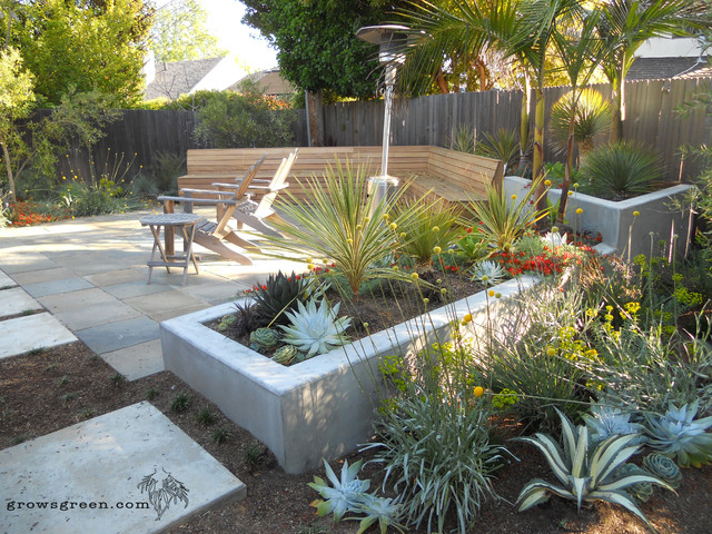 Modern succulent garden contemporary landscape san for Garden design with succulents