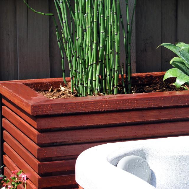 Garden Design With Modern Plant Landscape Ideas Simply: Modern Wood Planter