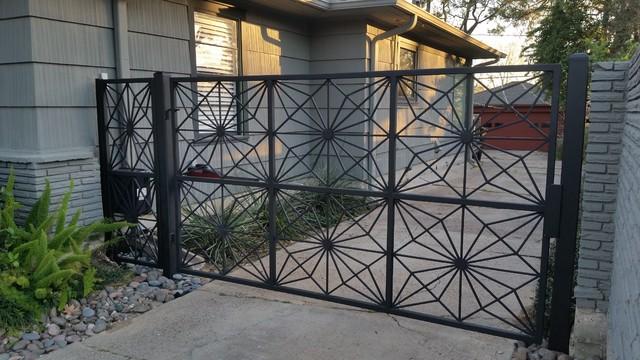 Wrought Iron Fence Backyard Landscape