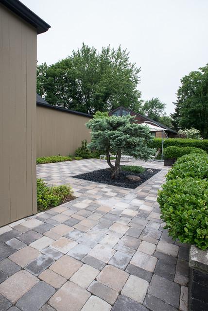 Modern Zen Garden Courtyard contemporary-landscape
