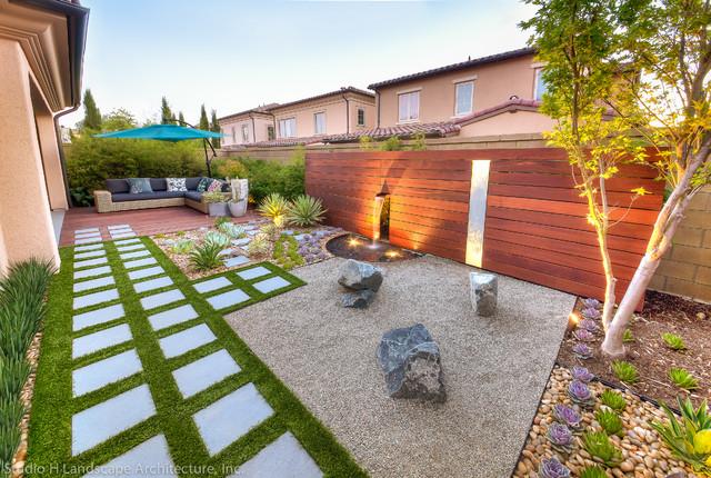 modern zen garden green design - contemporary - orange county