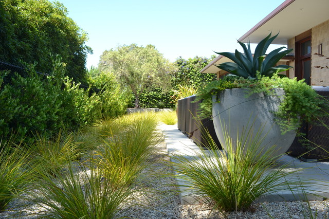 Montecito zen contemporary landscape santa barbara for Crushed oyster shells for landscaping