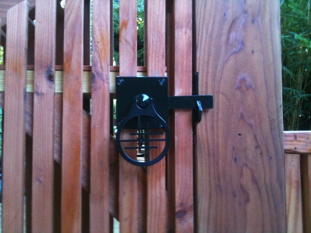 Moon Gate With Asian Inspired Gate Latch