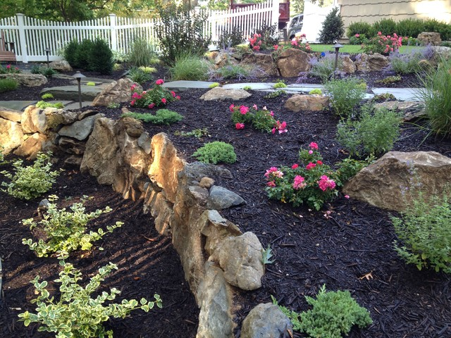 Moss Rock Boulders South Huntington Ny Rustic