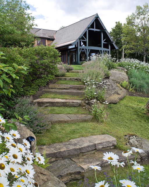 Natural Inspiration Koi Pond Design Ideas For A Rich And: Mountain Lodge